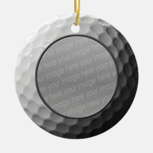 golf ball photo ornament