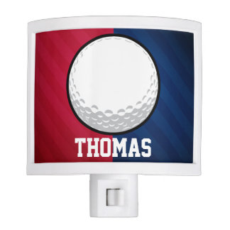 Golf Ball; Red, White, and Blue Night Lite
