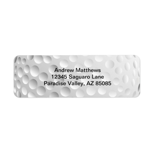 Golf Ball Return Address Label