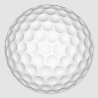 Golf Ball Round Stickers