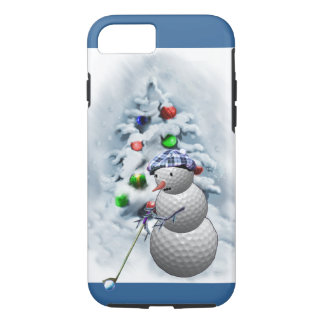 Golf Ball Snowman Christmas iPhone 7 Case