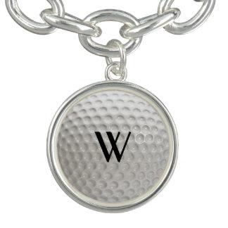 Golf Ball Sport Charm Bracelet