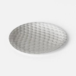 Golf Ball Sport Paper Plate