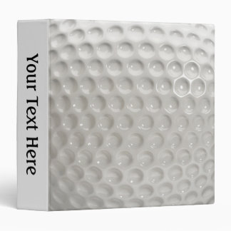 Golf Ball Sport Personal Spine Vinyl Binder