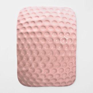Golf Ball Sport Pink Burp Cloth