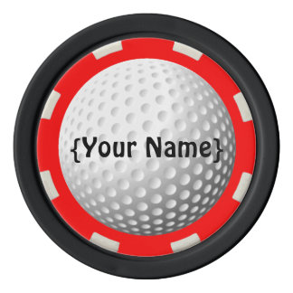 Golf ball spotter poker chip