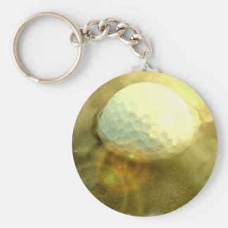 Golf Ball Stuck in the Mud Keychain