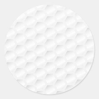 Golf ball texture classic round sticker