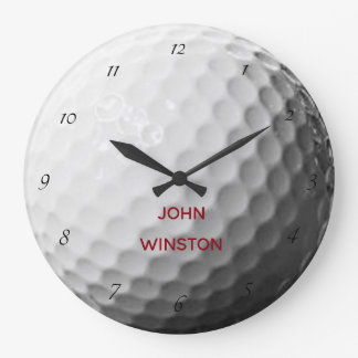 Golf Ball Texture Personalized Wall Clock