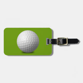 GOLF BALL VECTOR ICON GRAPHICS greens WHITE SPORTS Luggage Tag