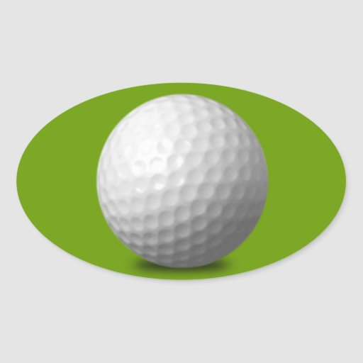 GOLF BALL VECTOR ICON GRAPHICS greens WHITE SPORTS Stickers