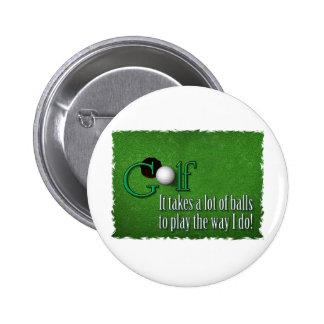golf balls 2 inch round button