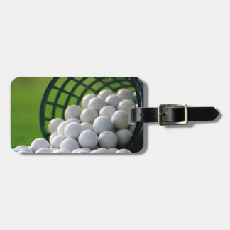 Golf Balls Bucket Luggage Tag