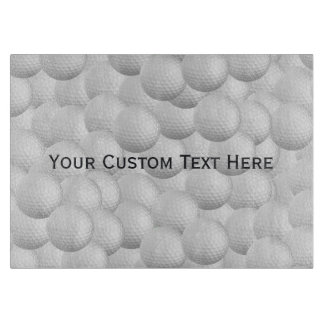 Golf Balls custom cutting board