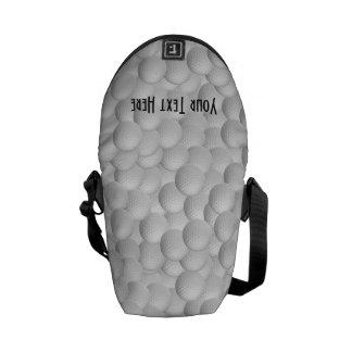 Golf Balls custom messenger bag