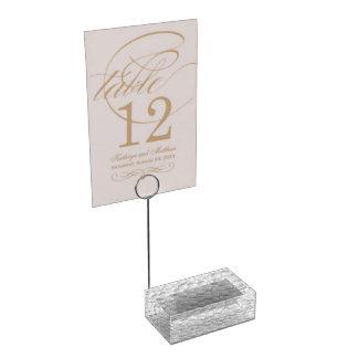 Golf Balls custom table card holder