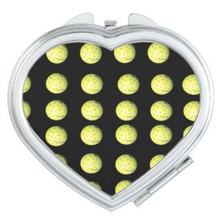 Golf Balls Ladies Compact Mirror. Makeup Mirrors