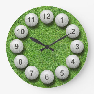 Golf Balls Timepiece Large Clock