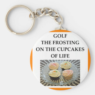 GOLF BASIC ROUND BUTTON KEYCHAIN