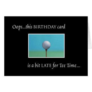 Golf - Belated Birthday Card