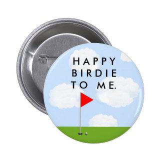 Golf Birdie 2 Inch Round Button