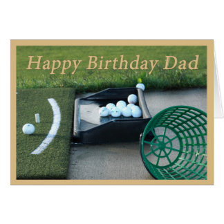 Golf Birthday Card for Dad