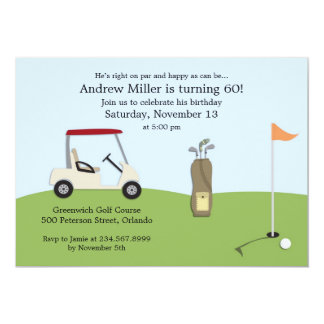 Golf Birthday Flat Invitation