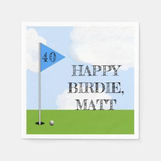 Golf Birthday Party Disposable Napkins