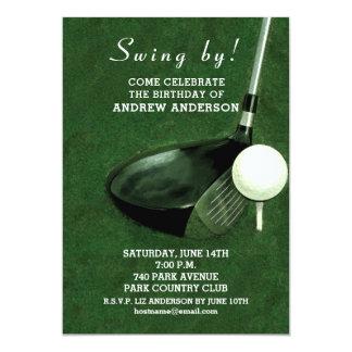 golf birthday party invitations