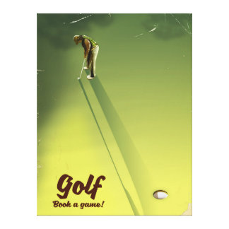 """Golf """"Book a game"""" vintage Poster Canvas Print"""