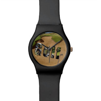 Golf Bunker And Logo, Ladies Black May Watch. Watch