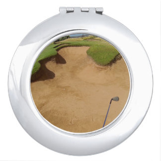 Golf Bunker Ladies Compact Mirror