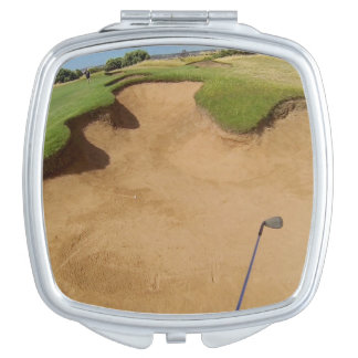 Golf Bunker, Ladies Square Compact Mirror