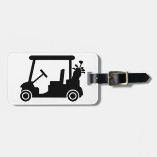 Golf car luggage tag