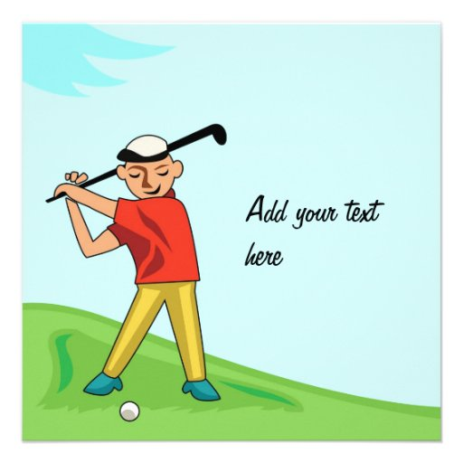 Golf Card Invitation