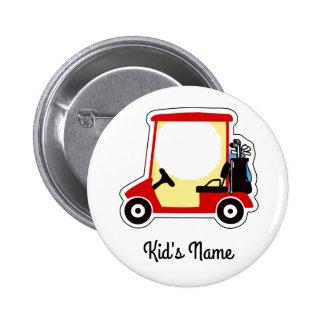 Golf cart 2 inch round button