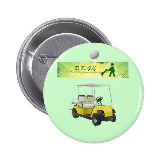 Golf cart and logo button