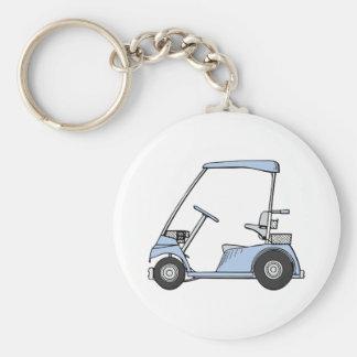 Golf Cart Basic Round Button Keychain