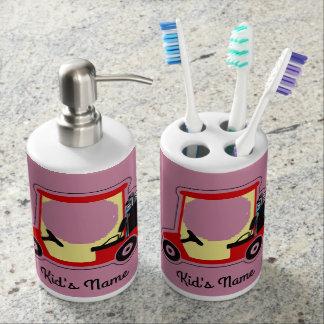 Golf cart bath accessory sets