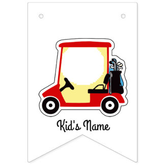 Golf cart bunting flags