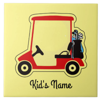 Golf cart ceramic tile