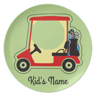 Golf cart dinner plates