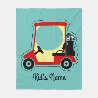 Golf cart fleece blanket