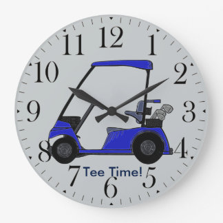 Golf Cart for the Golfer Large Clock
