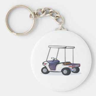 golf cart graphic basic round button keychain