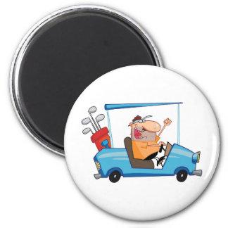 Golf Cart Guy 2 Inch Round Magnet