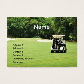 golf cart on a fairway business card