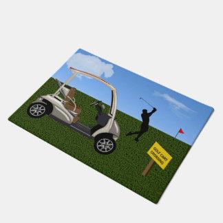 Golf Cart on the Fairway Doormat