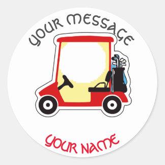 Golf cart round sticker