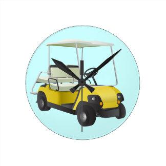 Golf cart Round wall clock